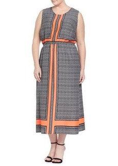 Cynthia Steffe Sleeveless Crossroad Panel Printed Maxi Dress