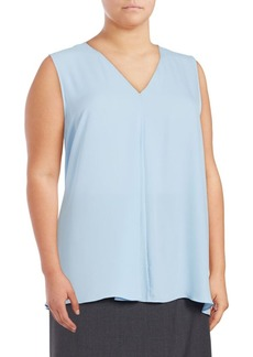 Vince Camuto Plus Solid Sleeveless Blouse