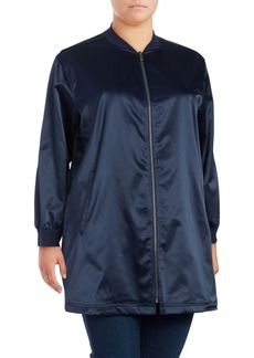 Vince Camuto Plus Stand-Collar Zip-Front Jacket