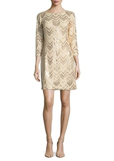 Vince Camuto Zigzag Printed Dress
