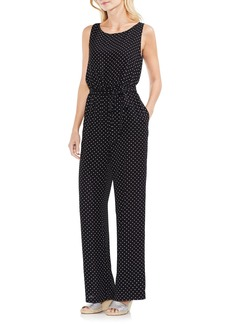 Vince Camuto Poetic Dots Belted Jumpsuit