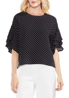 Vince Camuto Poetic Dots Tiered Ruffle Sleeve Blouse