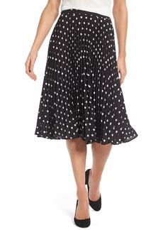 Vince Camuto Polka Dot Pleat Skirt