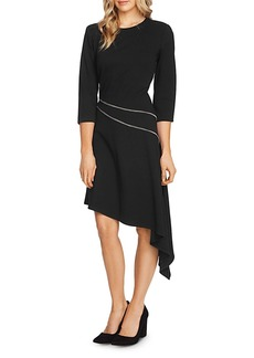 VINCE CAMUTO Ponte Asymmetric-Hem Dress