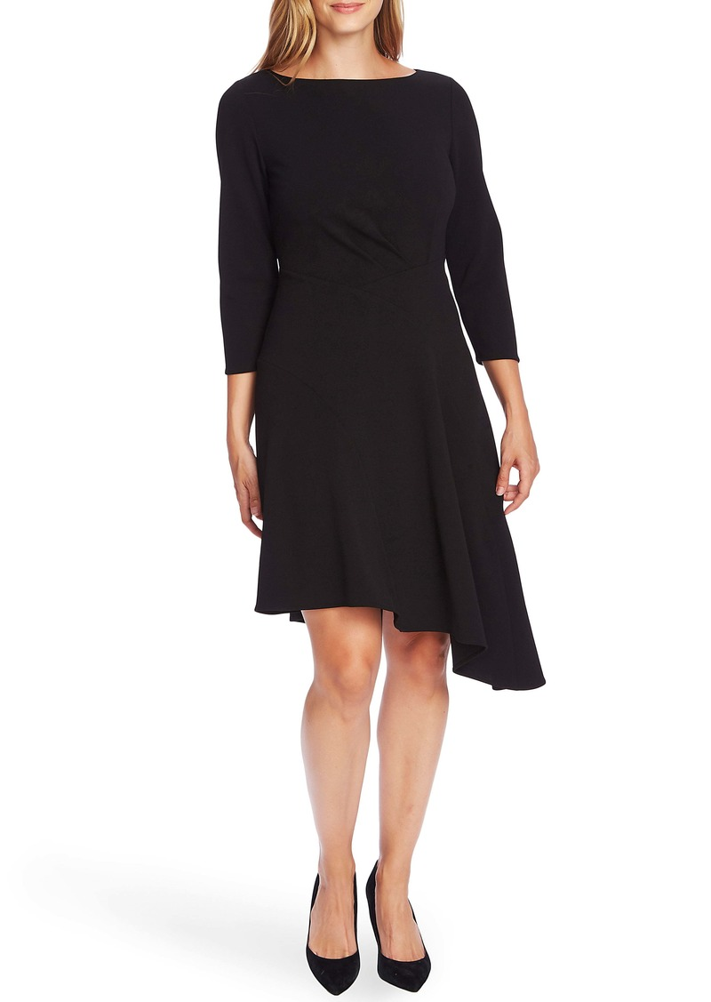 Vince Camuto Ponte Knit Crepe Asymmetrical Dress