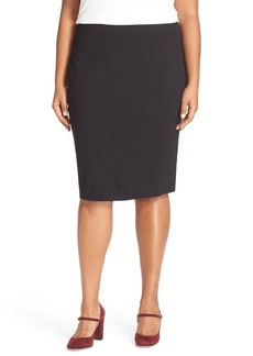 Vince Camuto Ponte Knit Skirt (Plus Size)
