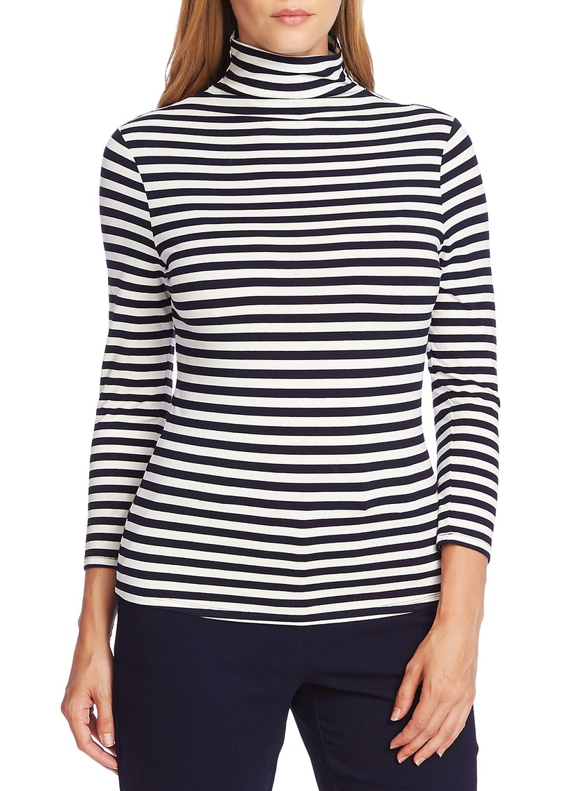 Vince Camuto Pool Stripe Turtleneck Top