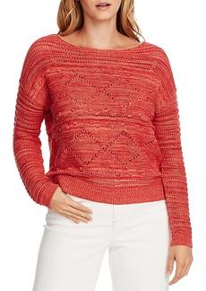 Vince Camuto Popcorn Stitch Cotton Sweater