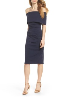 Vince Camuto Popover Midi Dress (Regular & Petite)