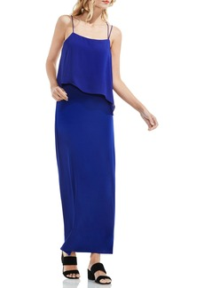Vince Camuto Popover Mixed Media Maxi Dress