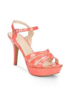 Vince Camuto Princey Patent Open-Toe Platform Sandals