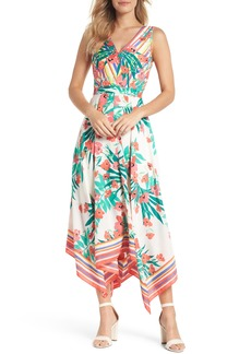 Vince Camuto Print Handkerchief Hem Dress