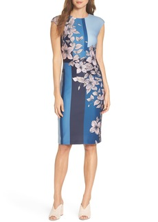 Vince Camuto Print Scuba Body-Con Dress (Regular & Petite)