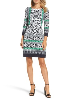 Vince Camuto Print Sheath Dress (Regular & Petite)