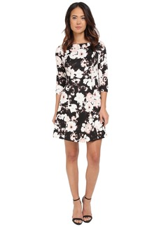 Vince Camuto Printed 3/4 Sleeve Fit and Flare