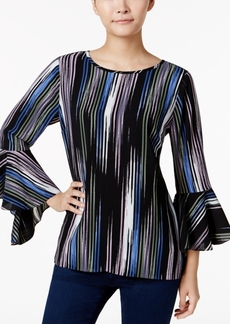 Vince Camuto Printed Bell-Sleeve Top, a Macy's Exclusive Style