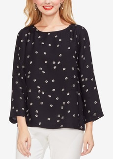 Vince Camuto Printed Boat-Neck Top