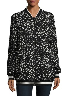 Vince Camuto Printed Bomber Jacket