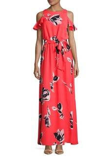 Vince Camuto Printed Cold-Shoulder Dress