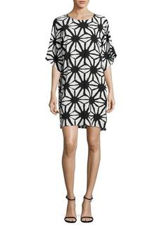 Vince Camuto Printed Crepe Shift Dress