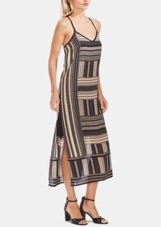 Vince Camuto Printed Cross-Back Dress