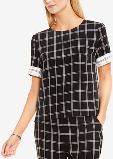 Vince Camuto Printed Cuffed Top