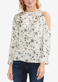 Vince Camuto Printed Cutout Top