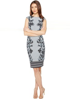Vince Camuto Printed Extended Cap Sleeve Bodycon