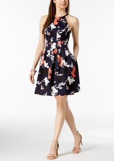 Vince Camuto Floral Printed Fit & Flare Dress