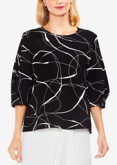 Vince Camuto Printed Full-Sleeve Blouse