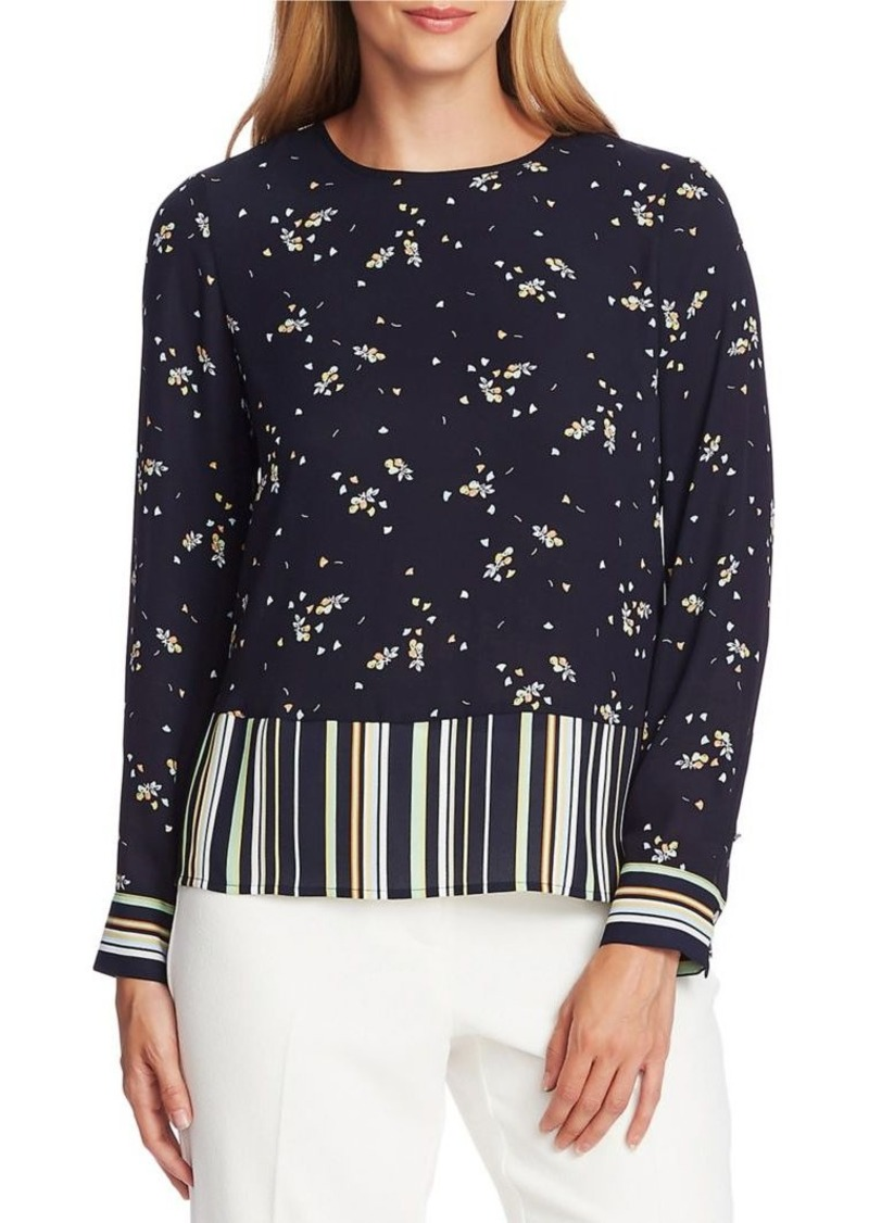 Vince Camuto Printed Georgette Blouse