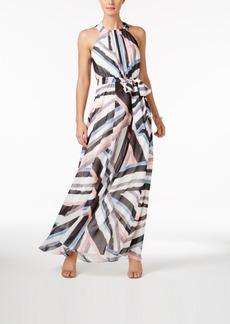 Vince Camuto Printed Halter Maxi Dress