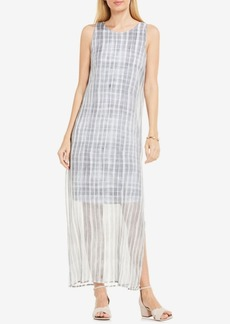 Vince Camuto Printed Illusion Maxi Dress