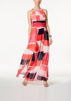 Vince Camuto Printed Keyhole Maxi Dress