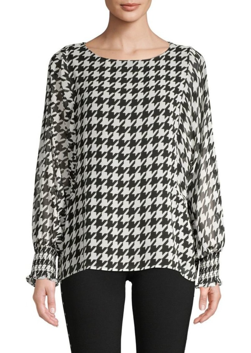 Vince Camuto Printed Long-Sleeve Top
