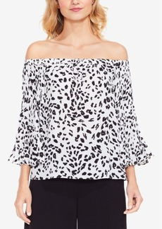 Vince Camuto Printed Off-The-Shoulder Blouse