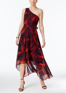 Vince Camuto Printed One-Shoulder Dress