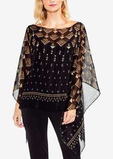 Vince Camuto Printed Poncho Top