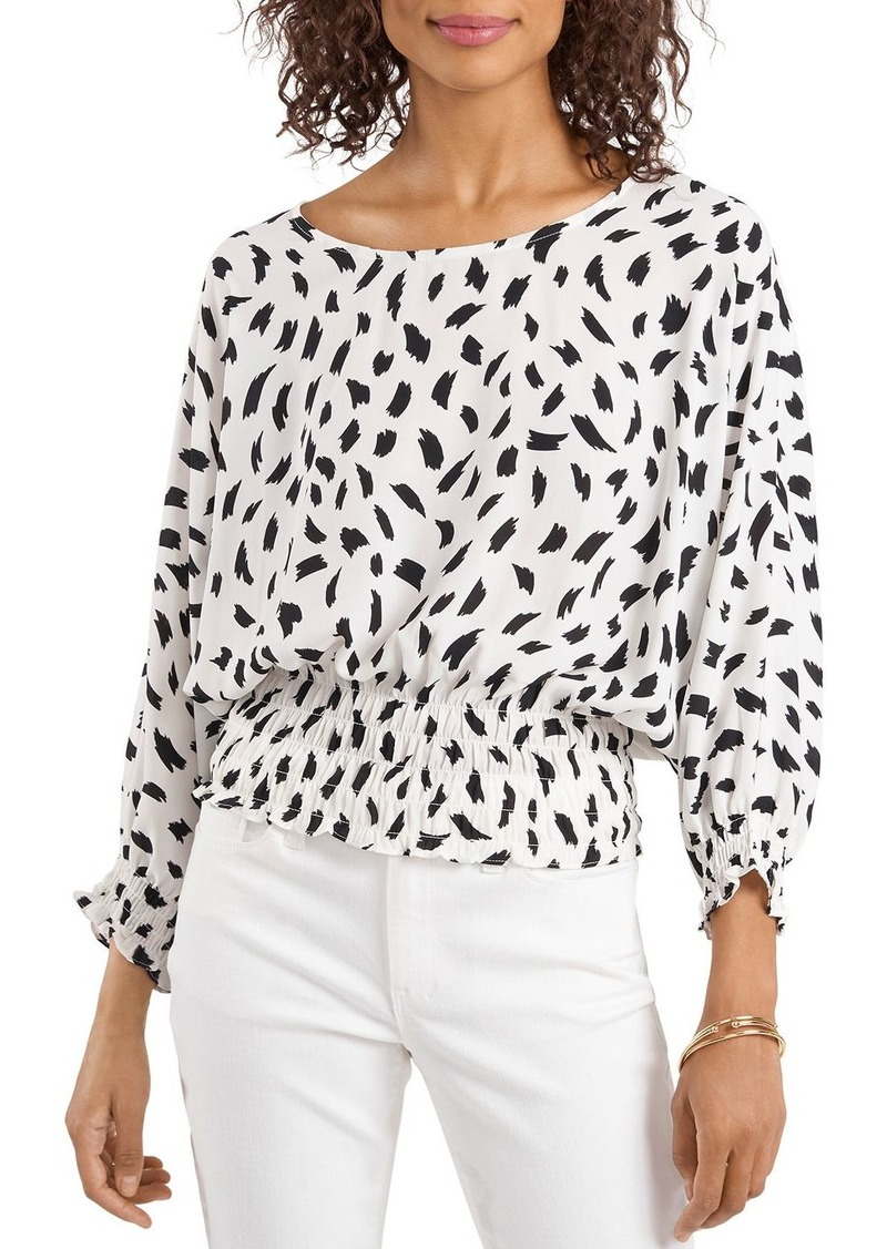 VINCE CAMUTO Printed Puff Sleeve Top
