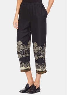 Vince Camuto Printed Pull-On Cropped Pants