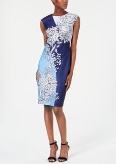 Vince Camuto Printed Scuba Bodycon Dress