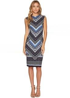 Vince Camuto Printed Scuba Crepe Bodycon Dress