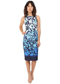 Vince Camuto Printed Scuba Sleeveless Bodycon Ombre Dress