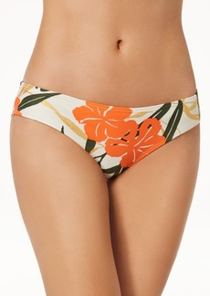 Vince Camuto Printed Shirred Cheeky Bikini Bottoms Women's Swimsuit