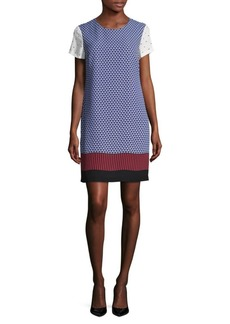 Vince Camuto Printed Short-Sleeve Shift Dress