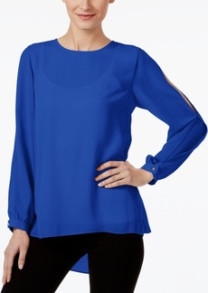 Vince Camuto Printed Split-Sleeve Top, Created for Macy's