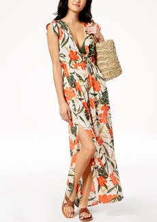 Vince Camuto Printed Strappy-Back Maxi Dress Cover-Up Women's Swimsuit