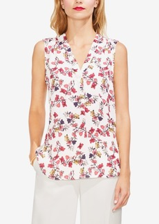 Vince Camuto Printed V-Neck Sleeveless Top