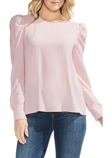 Vince Camuto Puff Shoulder Crepe Blouse