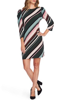 Vince Camuto Puff Shoulder Windsor Stripe Dress